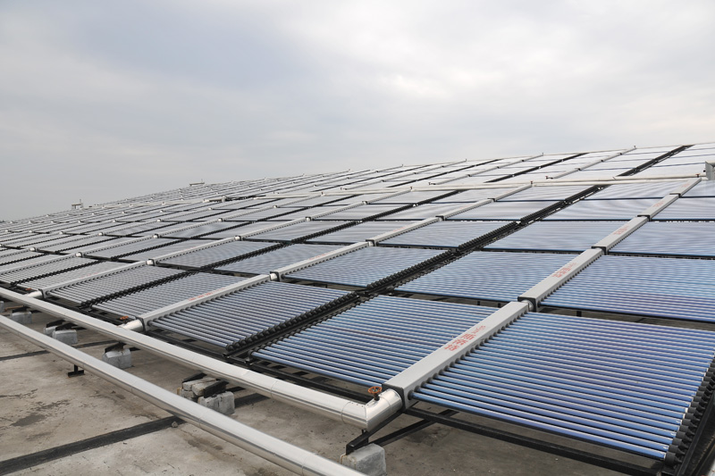 Solar Water Heating Project for Sino-French Agricultural Technology Company in Jiaxing
