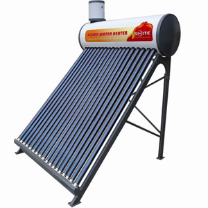 Non-pressurized solar water heater with assistant tank, SD-T