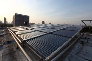 The hot water pump and solar system project for Zhejiang university dormitory