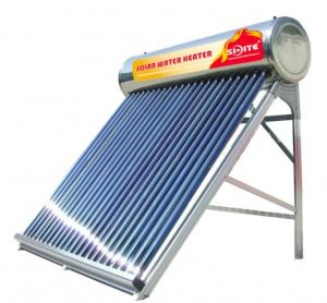 Non-pressurized stainless steel solar water heater